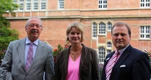 Dr. Klaus Rave, OB Dr. Susanne Gaschke und Götz Bormann (Vorstandsvorsitzender der Förde-Sparkasse)
